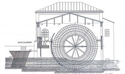 la roue hydraulique SAGEBIEN, roue hydraulique des basses chutes