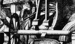 Le moulin à foulon, premier moulin de l'industrie textile lainière