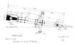 Plans de fabrication des ailes du moulin à vent de Saint-Lys (Haute-Garonne)