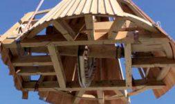 L'association les Ailes du Moulin de Pierrelatte, à Pierrelatte dans la Drôme, en Région Rhône-Alpes a inauguré son moulin à vent