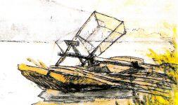 Le vire-vire de Châteauneuf-du-Rhône, une machine à pêcher ? (Drôme, Région Auvergne-Rhône-Alpes)