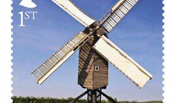 Timbres spéciaux de Moulins à Vent et de Moulins à Eau du Royaume Uni