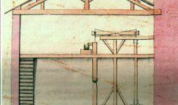 Reconstitution du manège du puits d'eau salée en 2016. Salines de Dieuze (Moselle)