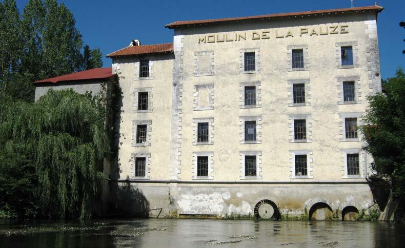 La minoterie façade Ouest. Photo Moulin de la Pauze