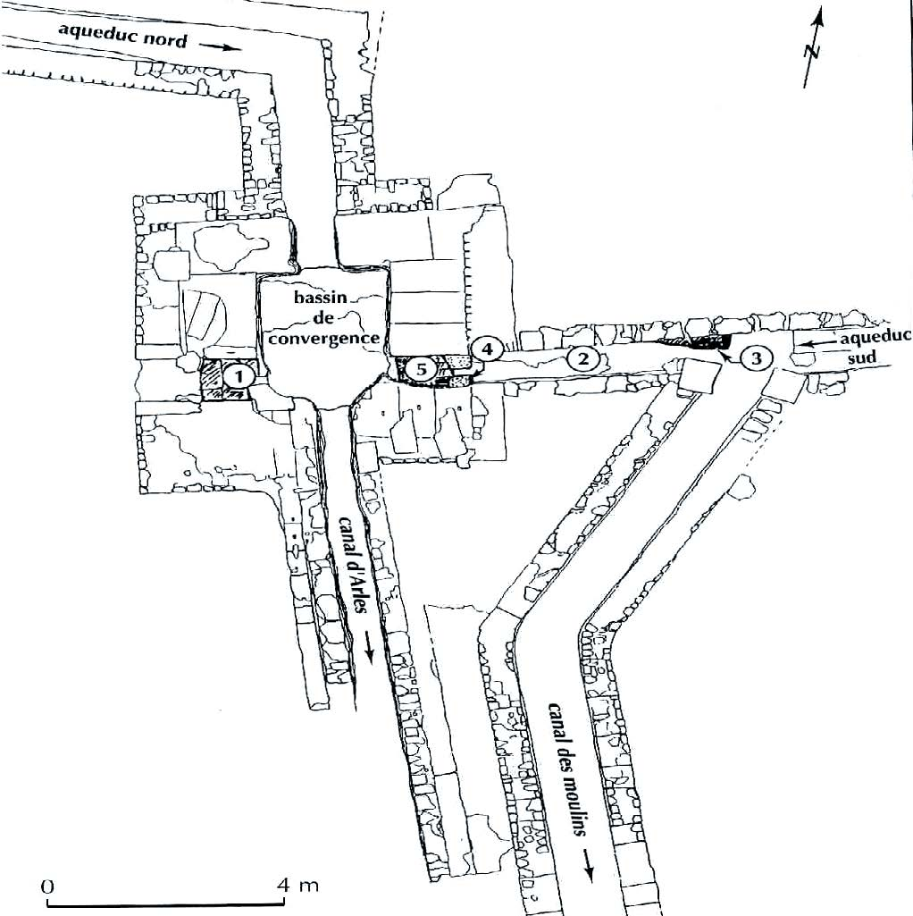 Fig 2 : Plan du bassin de convergence du Vallon des Arcs