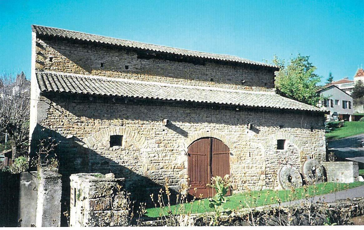 Vestige du moulin qui a disparu. Photo DR.