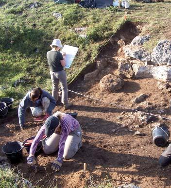 La zone II en cours de fouilles. Photo A. Belmont.