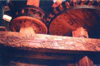 Intérieur du moulin - photo M.Sicard