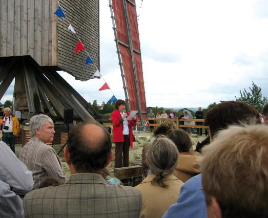 Le moulin de Dosches dans le département de l'Aube et la cérémonie d'inauguration 23 juin 2007