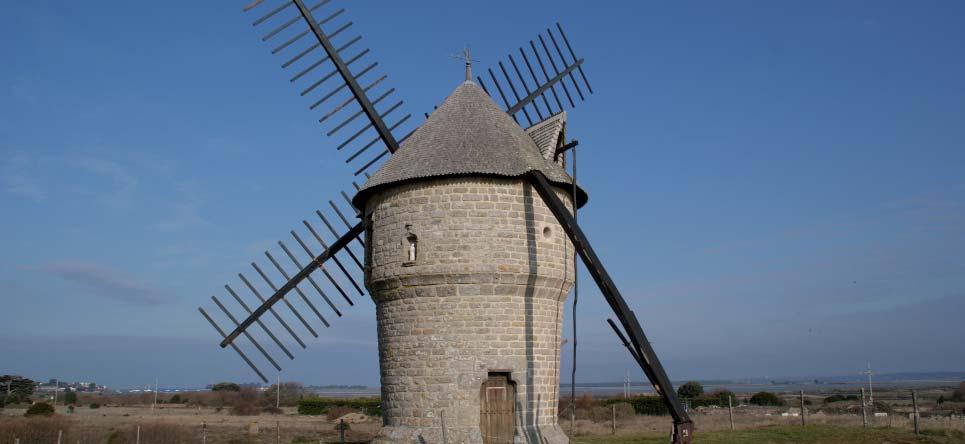 Moulin de la Falaise à Batz sur Mer (Loire Atlantique). Cliché E. Charpentier.