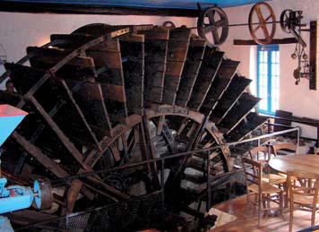 Roue du moulin de Gué Plat de Pommeuse - photo M. Lajoie-Mazenc