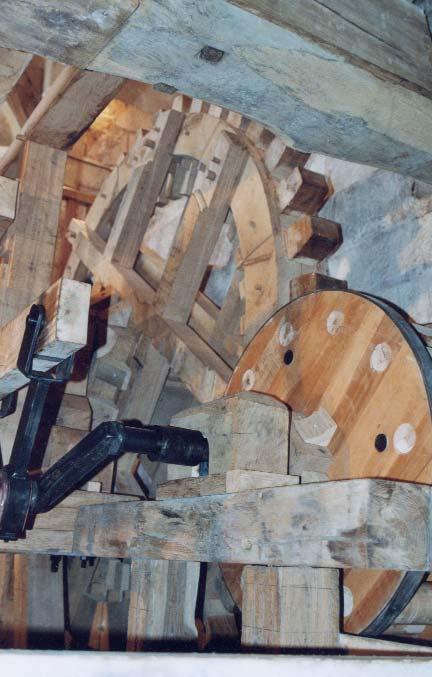 Engrenages et transmission en bois - photo S.Mary