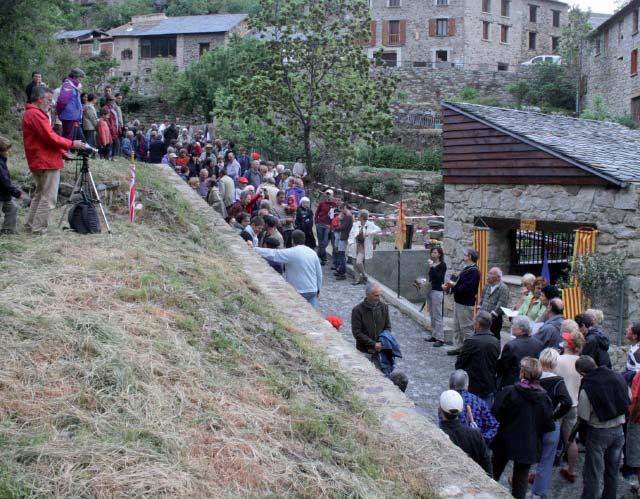Inauguation du Moli del Xic. Photo de l'Association Garrotxes Conflent.
