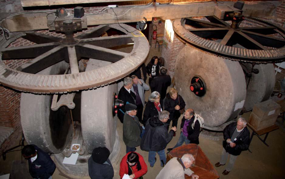 Intérieur du Moulin Blanc. Cliché F. Boneteau