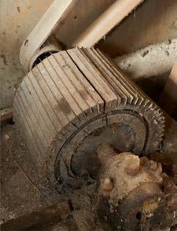 Fig 5- Le tambour de la râpe pourvu de ses lames à denture très fines. Bertrand Drapier - Région Lorraine - Inventaire général.