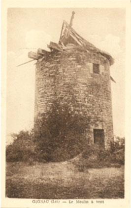 Le Moulin de Gignac (Lot) en 1930 - Photo DR.