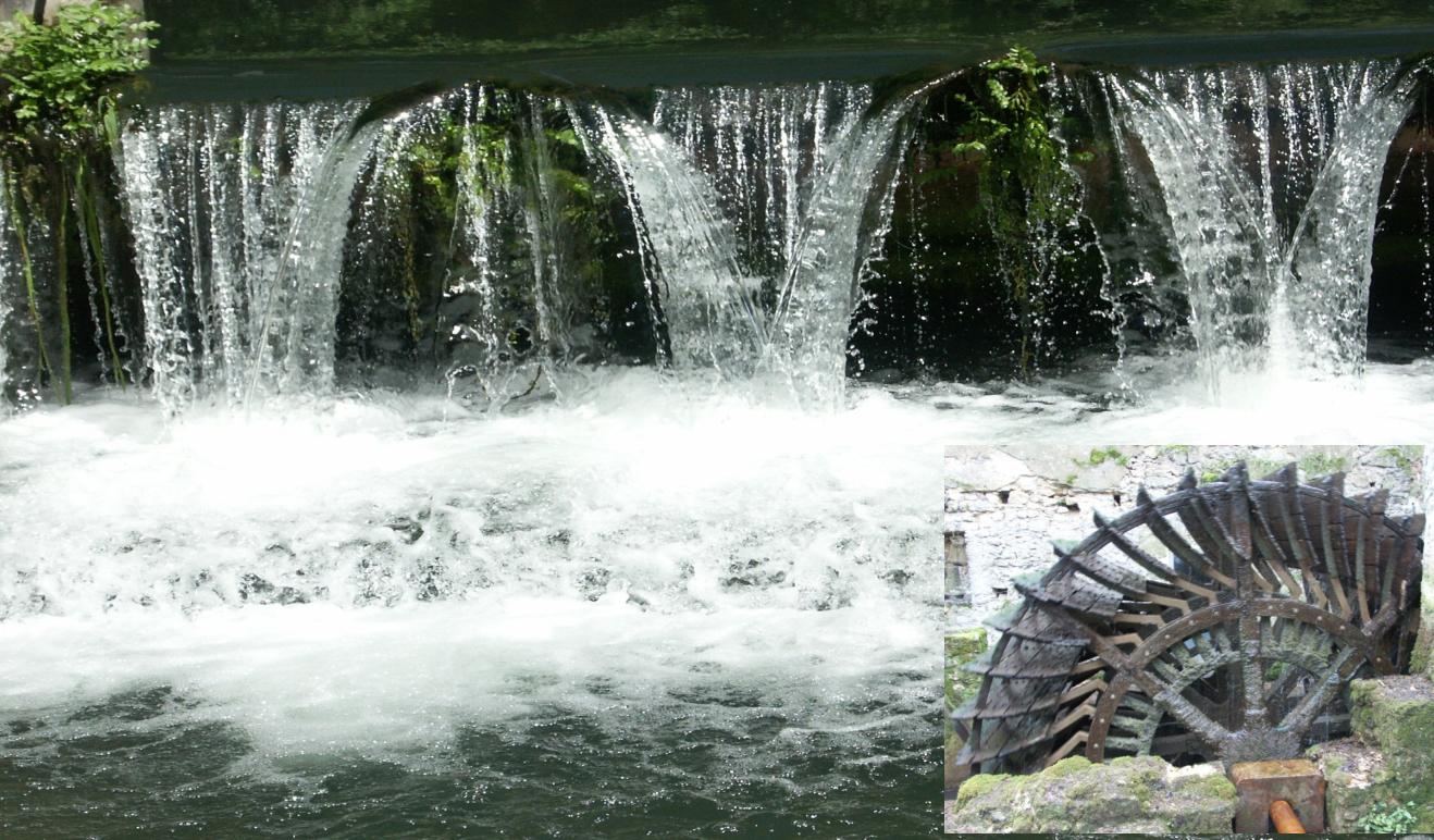 Moulin de Chollay - Roue avec chute