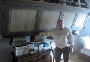 René Cridlig au moulin de Haut-Apach - photo DR.