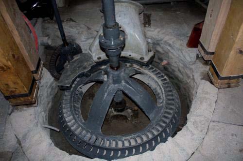 Moulin à Crest-Voland (73) turbine Francis. Cliché A. Eyquem
