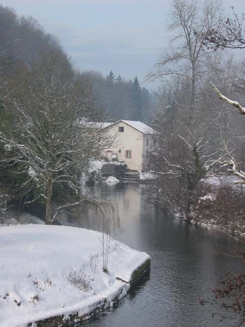 Moulin de Mausset Saint Paul sous la neige. Photo Marie-Claire Rivet