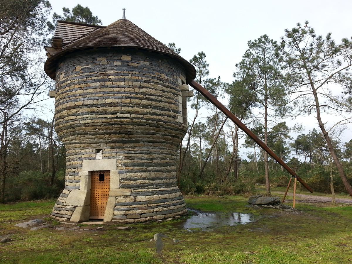 Moulin de la Vieille Ville, rénové et inauguré enjuin 2015par l'association et financé par la mairie - Photo E. Le Breton