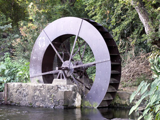 Moulin et roue à eau de La Perrière
