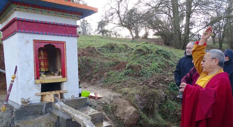 Moulin à prières à eau de Vajradhara Ling