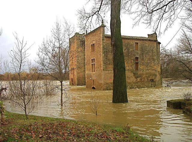 Moulins de Roquemengarde - Crue décembre 2008 - Photo DR