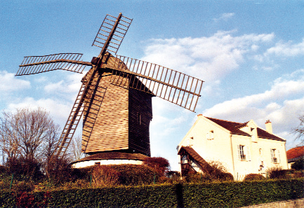 Moulin de Sannois avant sa dépose - mars 2007 - photo E. Charpentier