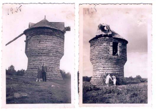 Moulin à vent de la Vieille Ville. Cartes postales anciennes transmises par l'Association