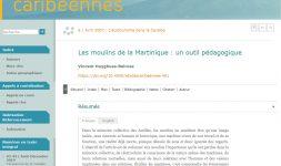Les moulins de la Martinique : un outil pédagogique