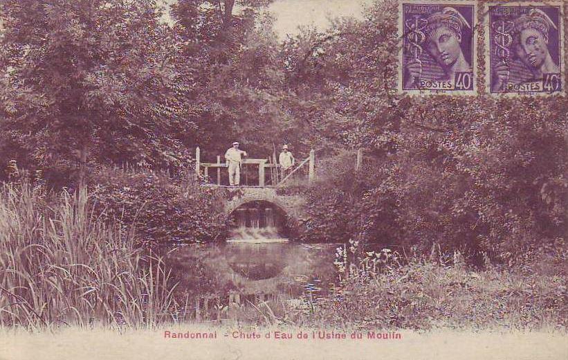 Chute d'eau du Moulin de Randonnai - collection Patrick SCHOLL
